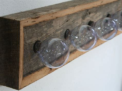 vanity light fixture reclaimed oak barnwood rustic