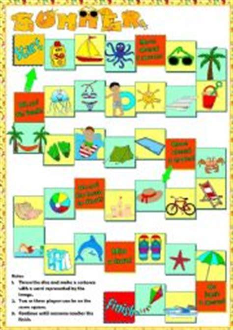 english worksheets summer board game
