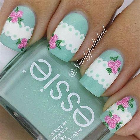 shabby chic nails floral nail art ideas glam radar