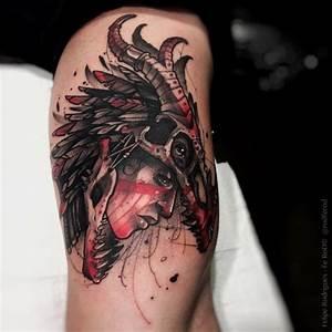 Indian & Dragon Skull - HEBREW TATTOO Jewish Tattoo