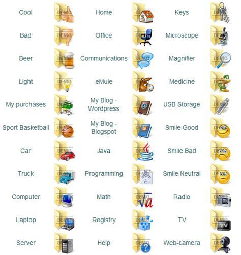 A Pack Of 64 New Folder Icons Folder Icons Screenshot X 64 Bit