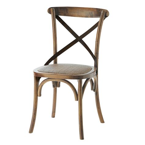 chaise en chene chaise en rotin et chêne effet vieilli tradition maisons