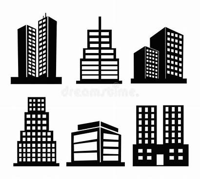 Building Commercial Vector Clipart Icons Clip Illustration