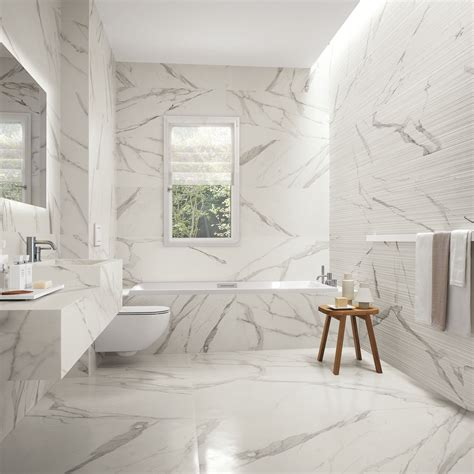 bathroom powder room ideas statuario marble series the tile house