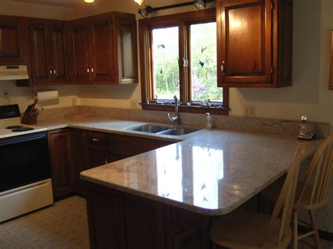 light granite cabinets traditional kitchen