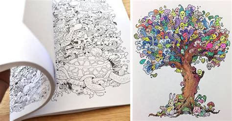 coloring book  adults titled doodle invasion  kerby