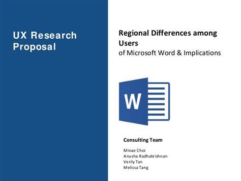 ux research proposal microsoft word regional