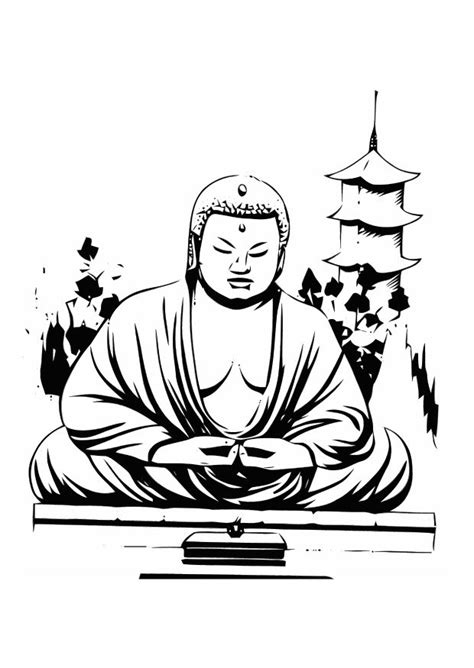 buddha coloring pages getcoloringpagescom