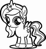 Pony Coloring Cartoon sketch template