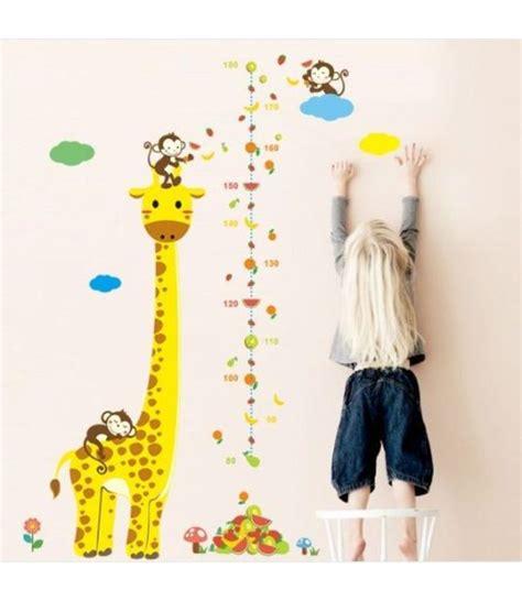 muursticker giraffe met aapjes muursticker kinderkamer