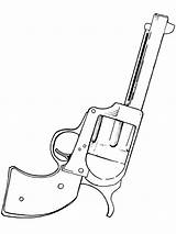 Coloring Gun Pages Pistol Shooter Easy Drawing Six Nerf Guns Colouring Print Boys Tattoo Printable Getdrawings Cowboy Popular sketch template