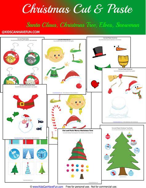 santa claus cut and paste worksheet for preschoolers