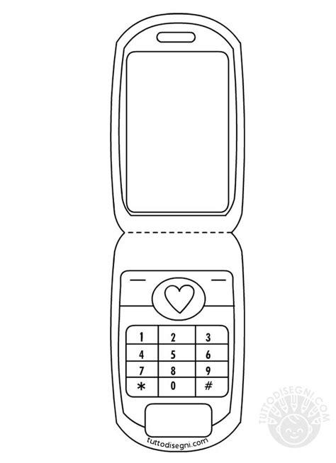 telefono da colorare cellulare da colorare tuttodisegni