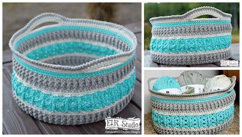crochet basket christmas present cal 2016 project 3 week 1 elk studio handcrafted crochet designs