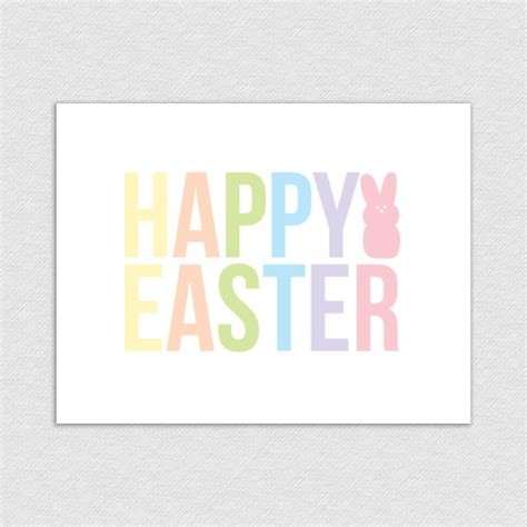 happy easter printable card happy easter pastels