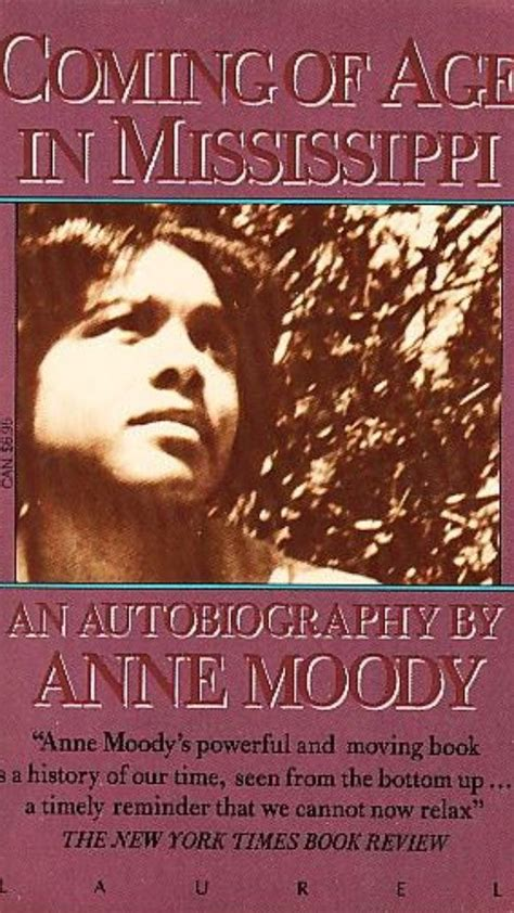 anne moody author  coming  age  mississippi  died