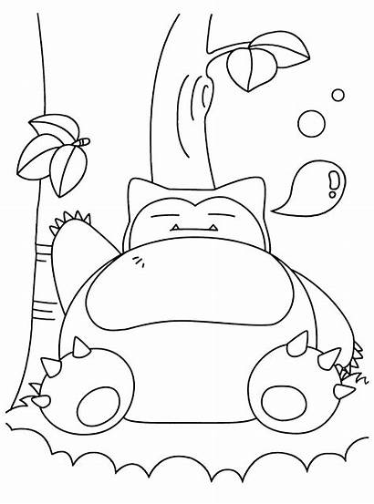 Coloring Pages Snorlax Pokemon Printable Getcolorings