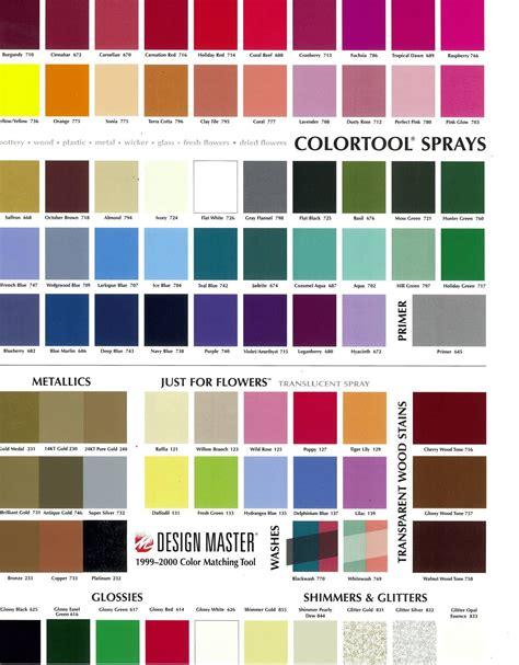 1999 2000 color card design master colortool 174 sprays