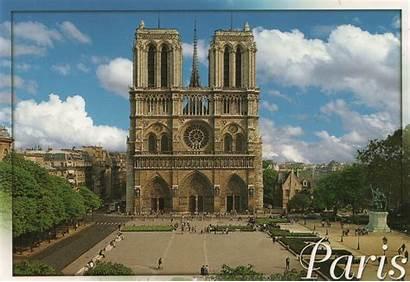 Dame Notre Paris Parvis Square Cathedral Du