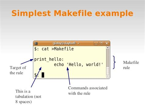 makefile template linux intro 4 awk makefile