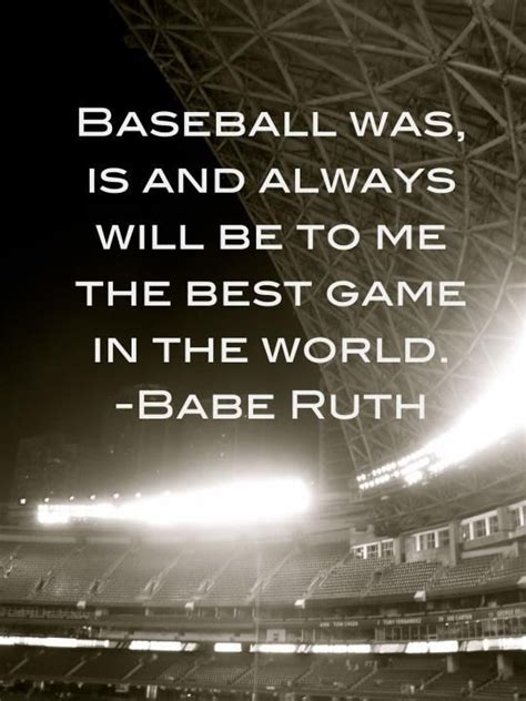 quot always follow your babe ruth quote baseball quotes pinterest
