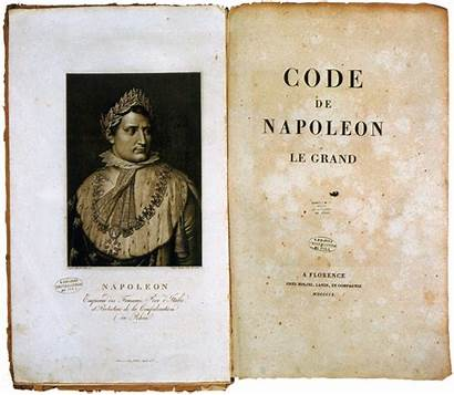 Napoleon Code French Revolution Law Laws Writing
