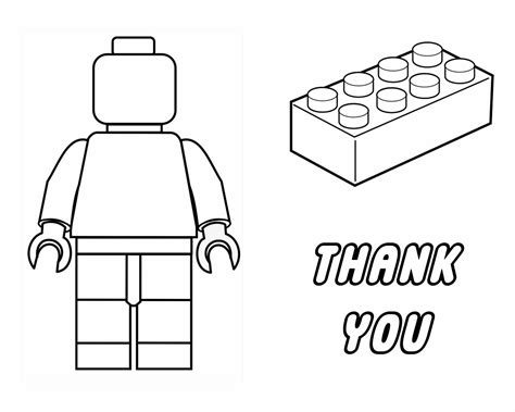 Colouring In Sheets Lego Man Template Printable Titlepg