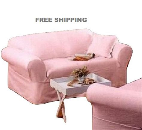 ashwell shabby chic slipcovers rachel ashwell sofa slipcover pink denim simply shabby chic couch