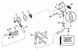 Johnson 1993 40 - J40eletb  Fuel Pump And Filter