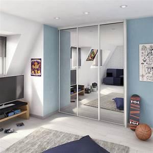 porte de placard coulissante miroir argent spaceo l67 x h With porte de douche coulissante avec renovation salle de bain 67