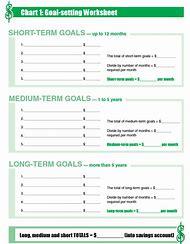 Family Goal Setting Worksheet