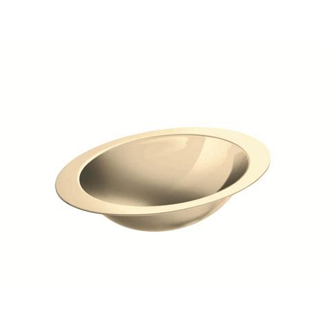 stainless steel undermount bathroom sink shop kohler rhythm mirror french gold stainless steel