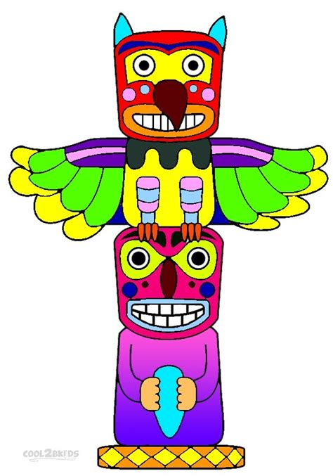 printable totem pole coloring pages  kids coolbkids