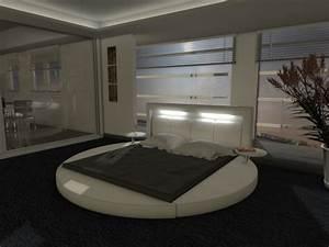 Bestes Bett Bei Rückenproblemen : rundbett night designerbett bett polsterbett mit beleuchtung kaufen bei ~ Sanjose-hotels-ca.com Haus und Dekorationen