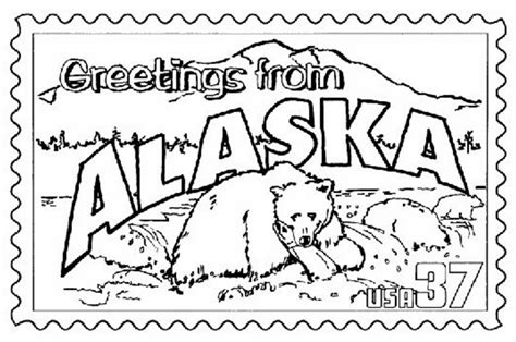 alaska fishing coloring page coloring page book  kids
