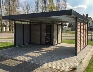 Haus Mit Doppelcarport : siebau doppelcarport mit wandelement wpc und ger teraum ~ Articles-book.com Haus und Dekorationen