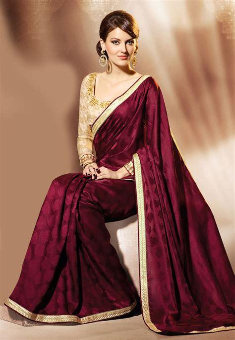 #maroon Satin Jacquard Saree @ $7100  Best Selling