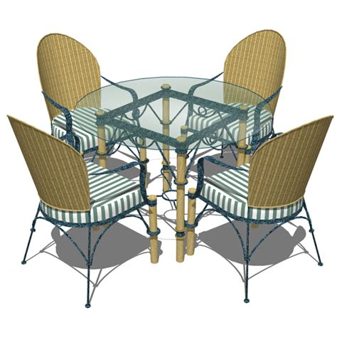 wrought iron dining set 3d model formfonts 3d models