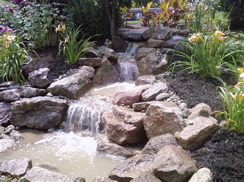 waterfall feature pondless waterfall build ephrata pa c e pontz sons landscape contractors