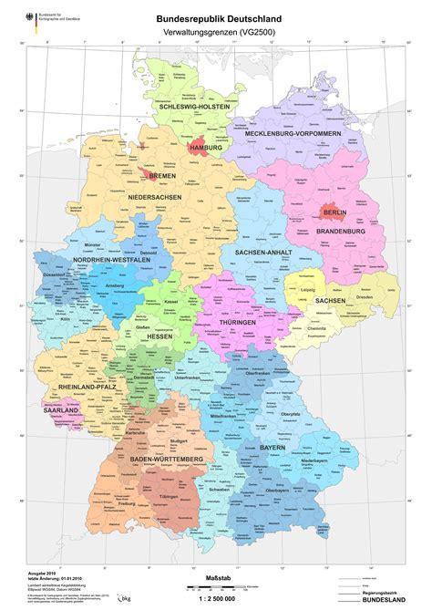 Bundesländer Karte Mit Städten