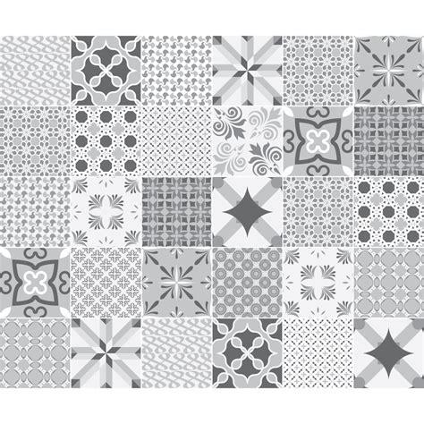 stickers carrelage carreaux de ciment 30 stickers carreaux de ciment nuance de gris romantique stickers et design artistiques