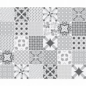 Stickers Carreaux De Ciment : 30 stickers carreaux de ciment nuance de gris romantique ~ Melissatoandfro.com Idées de Décoration