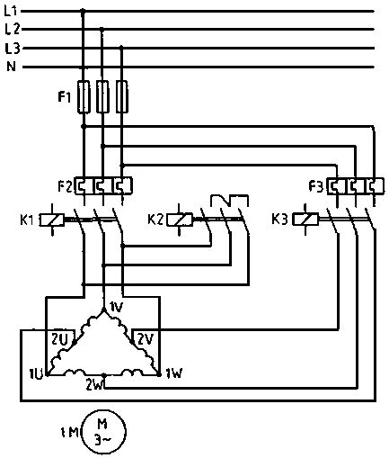 Part Winding Motor Starter Wiring by Part Winding Connection Electric Motors Generators