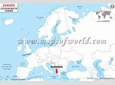 Where is Albania Located? Location map of Albania