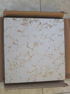 11 vintage gold vein veined mirror tiles square in box