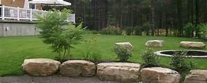 amenagement jardin avec grosses pierres ides en images With amenagement de jardin avec des pierres 7 piscine naturelle bassin jardin amenagement paysager