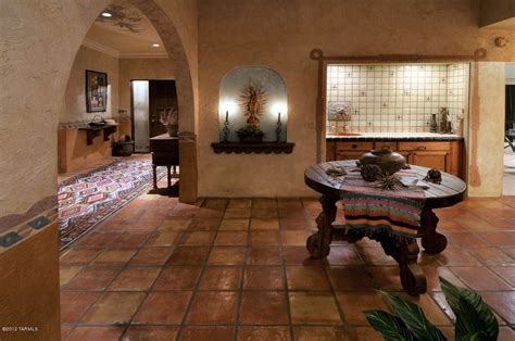 mexican floor tile tucson dining room with high ceiling terracotta tile floors in