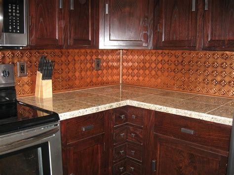 kitchen copper backsplash ideas 52 best faux tin backsplashes images on box 6592