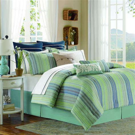 green and blue comforter bedding