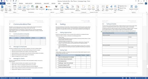 business continuity plan template ms wordexcel